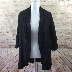 OH MY GAUZE! Black Maria Open Front Jacket  Size 1